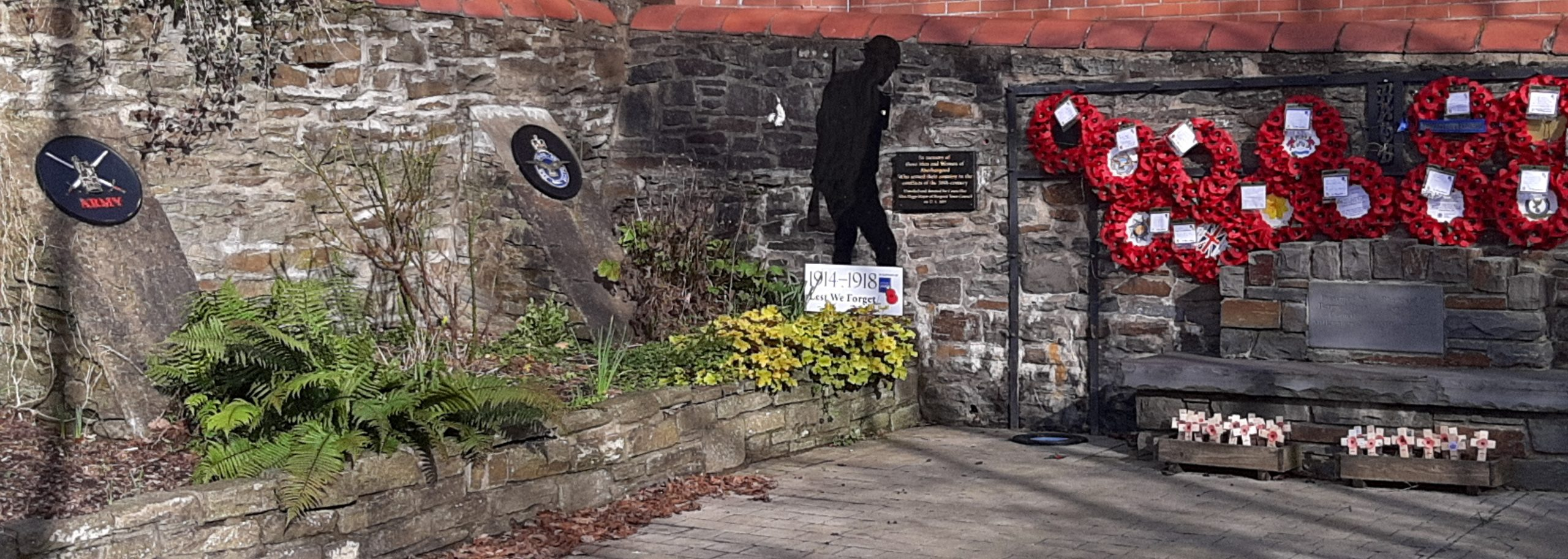Inside Aberbargoed Memorial Garden